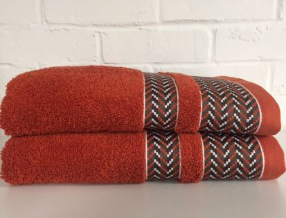Elainer Duke Hand Towel - Burnt Orange