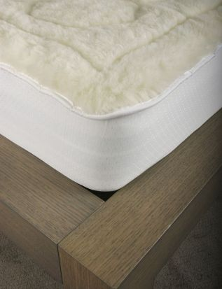 Elainer Faux Lambswool Mattress Protector Double
