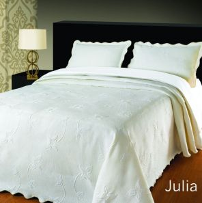 Elainer Julia Bedspread White King