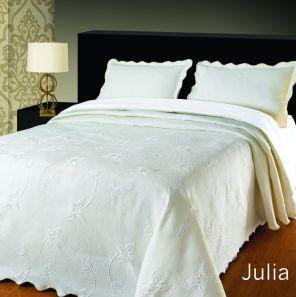 Elainer Julia Bedspread White Single