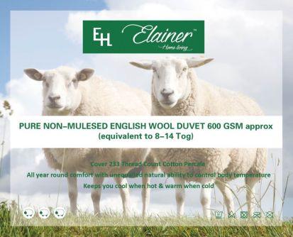 Elainer Wool Duvet - Double