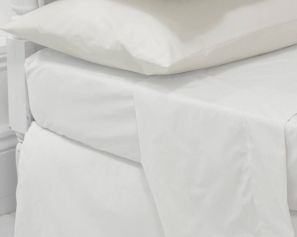 Eleanor James Anabel Sheet Set White King