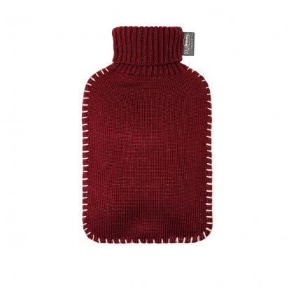 Fashy Hot Water Bottle with Cover - Cranberry