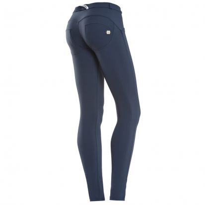 Freddy Mid-Rise Skinny Stretch Trousers Navy