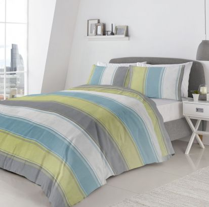 Fusion Betley Green Duvet Cover Set - Double