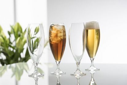 Galway Crystal Clarity Glassware - Beer/Iced Tea Set of 4