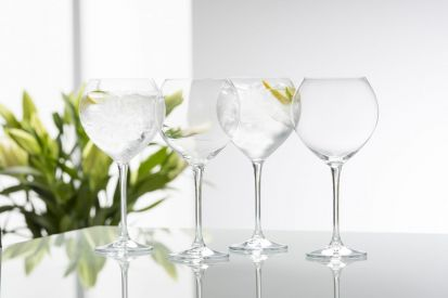Galway Crystal Clarity Glassware - Goblet Set of 4