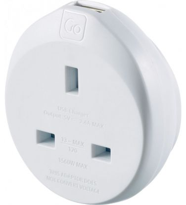 Go Travel UK to Americas Adaptor + USB
