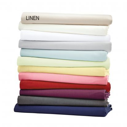 Helena Springfield Plain Dye Linen Base Valance Sheet - Superking