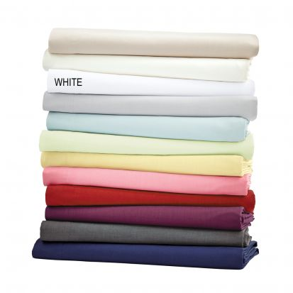 Helena Springfield Plain Dye White Base Valance Sheet - King