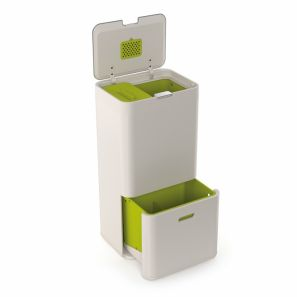 Joseph Joseph Totem 50L Intelligent Waste & Recycling Bin Stone