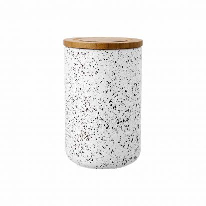 Ladelle Stak White Speckled 17cm Cannister
