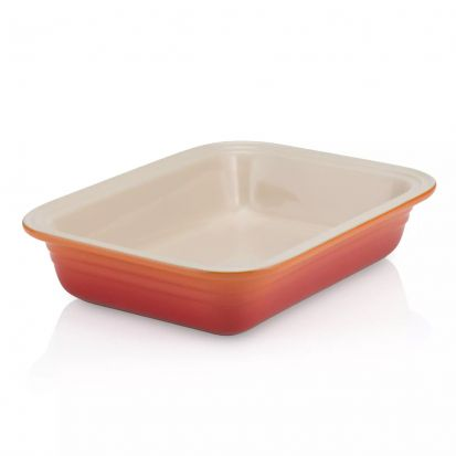 Le Creuset 29cm Stoneware Deep Rectangular Dish Volcanic SPECIAL PRICE