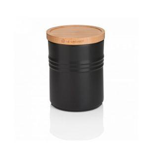 Le Creuset Medium Storage Jar - Satin Black