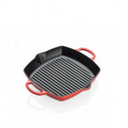 Le Creuset Signature 30cm Deep Square Cast Iron Grill - Cerise