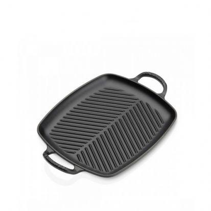 Le Creuset Signature 30cm Rectangular Grill - Satin Black
