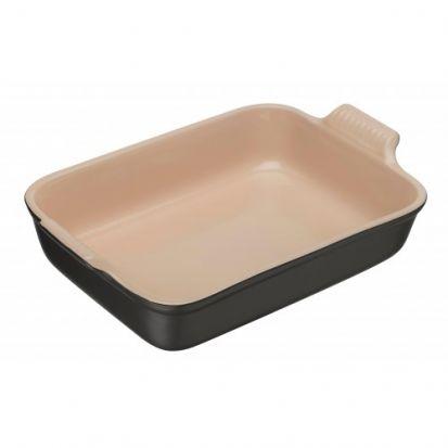 Le Creuset Stoneware 32cm Deep Rectangular Dish - Satin Black