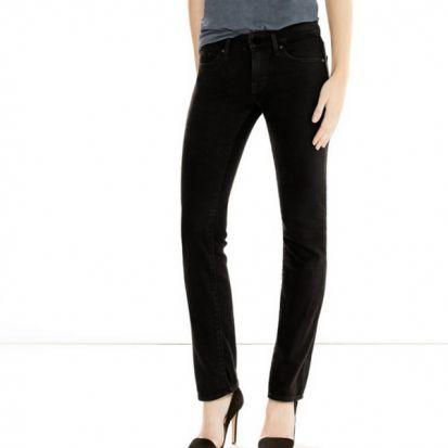 Levis Ladies 714 Straight Jeans Black