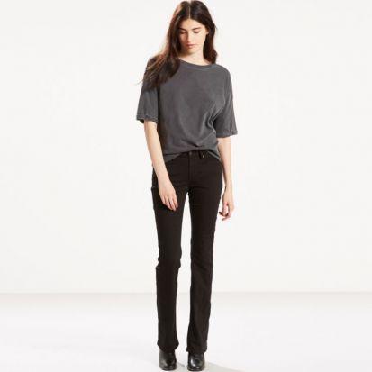 Levis Ladies 715 Bootcut Jeans Black