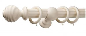 Monarch Earl Cream Complete Curtain Pole Set 240CM
