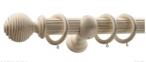 Monarch Earl Cream Gold Complete Curtain Pole Set 240CM