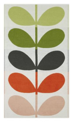 Orla Kiely Large Stem Bath Towel - Tomato