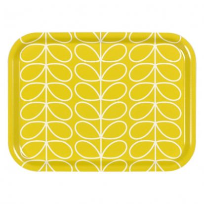 Orla Kiely Linear Stem Small Tray - Yellow