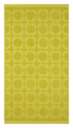 Orla Kiely Sculpted Flower Bath Towel - Dandelion