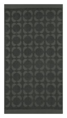 Orla Kiely Sculpted Flower Hand Towel - Charcoal