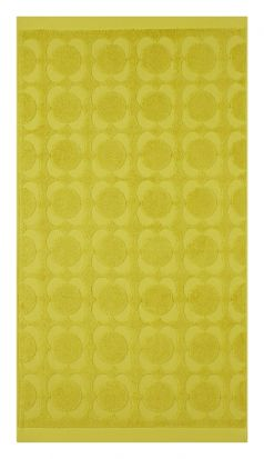 Orla Kiely Sculpted Flower Hand Towel - Dandelion