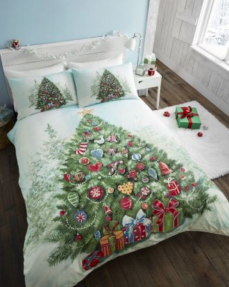 Portfolio Christmas Tree Duvet Cover Set Superking