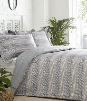 Portfolio Jori Duvet Cover Set Slate - Single