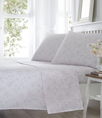 Portfolio Pretty Floral Sheet Set King - Pink