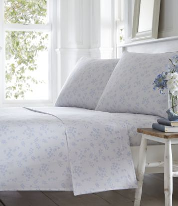 Portfolio Pretty Floral Sheet Set Superking - Blue