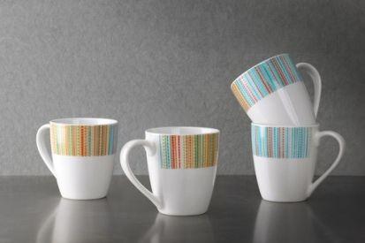 Portmeirion Studio Coral Stripes Set of 4 Mugs