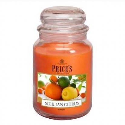 Prices Large Jar Candle Sicilian Citrus