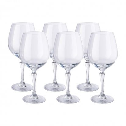 RCR Glamour Set of 6 Bugundy Glasses