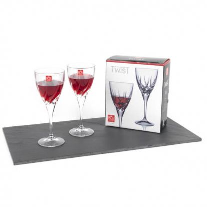 RCR Twist Set of 2 Red Wine Glasses