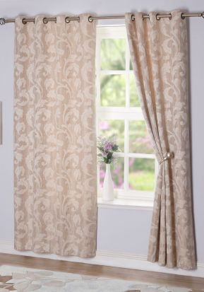 Rochelle Eyelet Curtains Sand 132