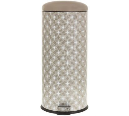 Salter 30L Pedal Bin - Lattice Natural
