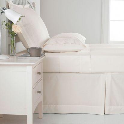 Sanderson 100% Cotton 300 Thread Count Flat Sheet Parchment - Double