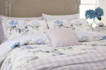 Sanderson Rhodera Amethyst/Charcoal Standard Pillowcase Pair