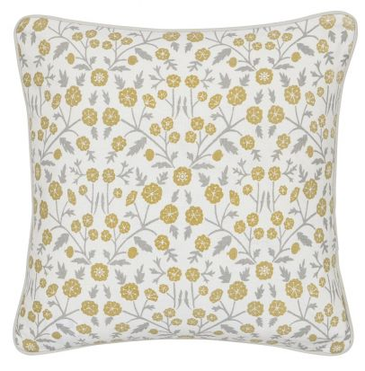 Sanderson Wind Poppies Linen/Ochre Cushion