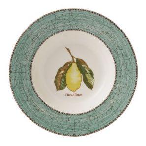 Wedgwood Sarah's Garden Green 22cm Soup Plate