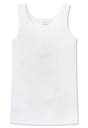 Schiesser Girls Original Classic White Vest