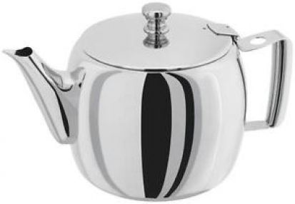 Stellar 0.9L/4 Cup Stainless Steel Traditional Teapot