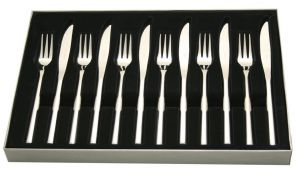 Stellar Rochester Set of 6 Steak Knives with Forks