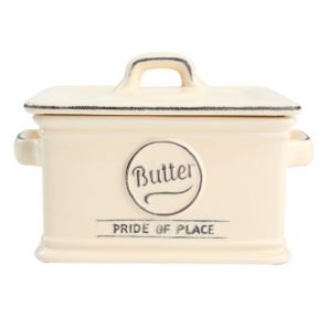 T&G Pride of Place Butter Dish Old Cream