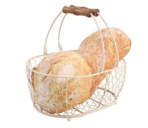 T&G Provence Wireware Medium Oval Basket Cream
