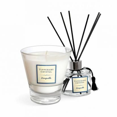 Tipperary Crystal Honeysuckle Candle & Diffuser Gift Set